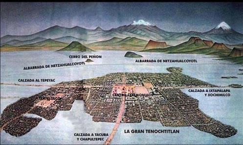 Cortès conquista Tenochtitlán